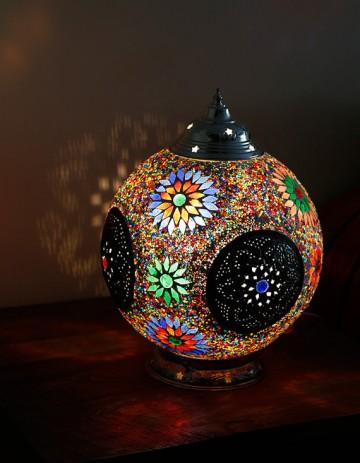Bedwelming Oosterse Lampen van mozaiek   Zoutewelle-Import #ZS77