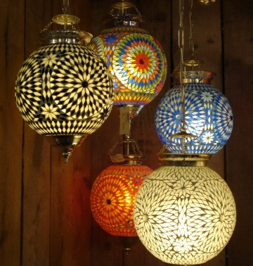 oosterse lampen van mozaiek