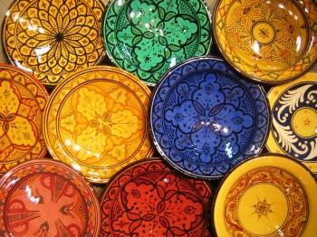 Marokkaanse Lampen Xenos : Marokkaans aardewerk schalen borden asbakken kommen tagines en