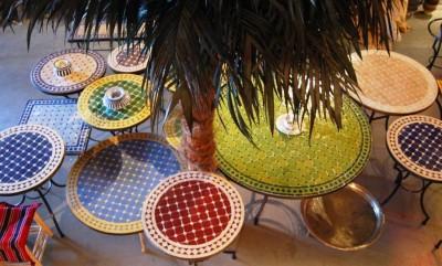 Oosterse Lampen Xenos : Marokkaanse mozaiektafels oosterse lampen zilveren dienbladen