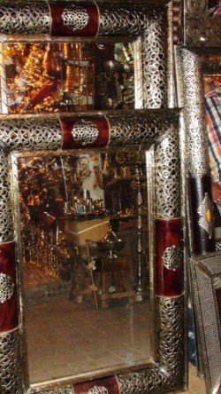 Marokkaanse Spiegel Groot.Oosterse Marokkaanse Zilveren En Smeedijzeren Spiegels