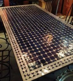 Tuintafel Met Portugese Tegels Maken.Marokkaanse Mozaiektafels En Fonteinen Marokko Mozaiek Het